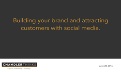 Building Your Brand and Attracting Customers with Social Media